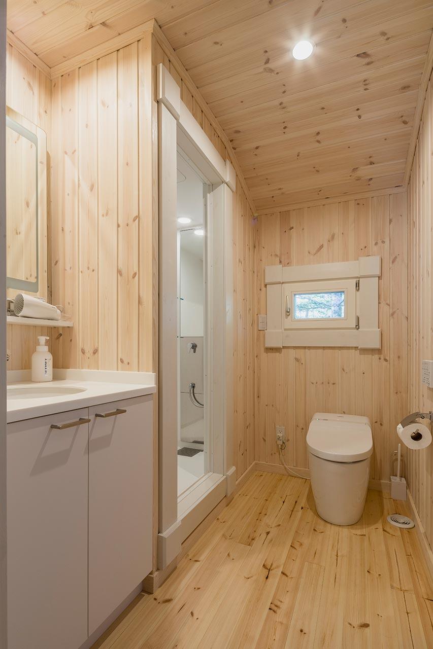 シャワースペースを設けたトイレ