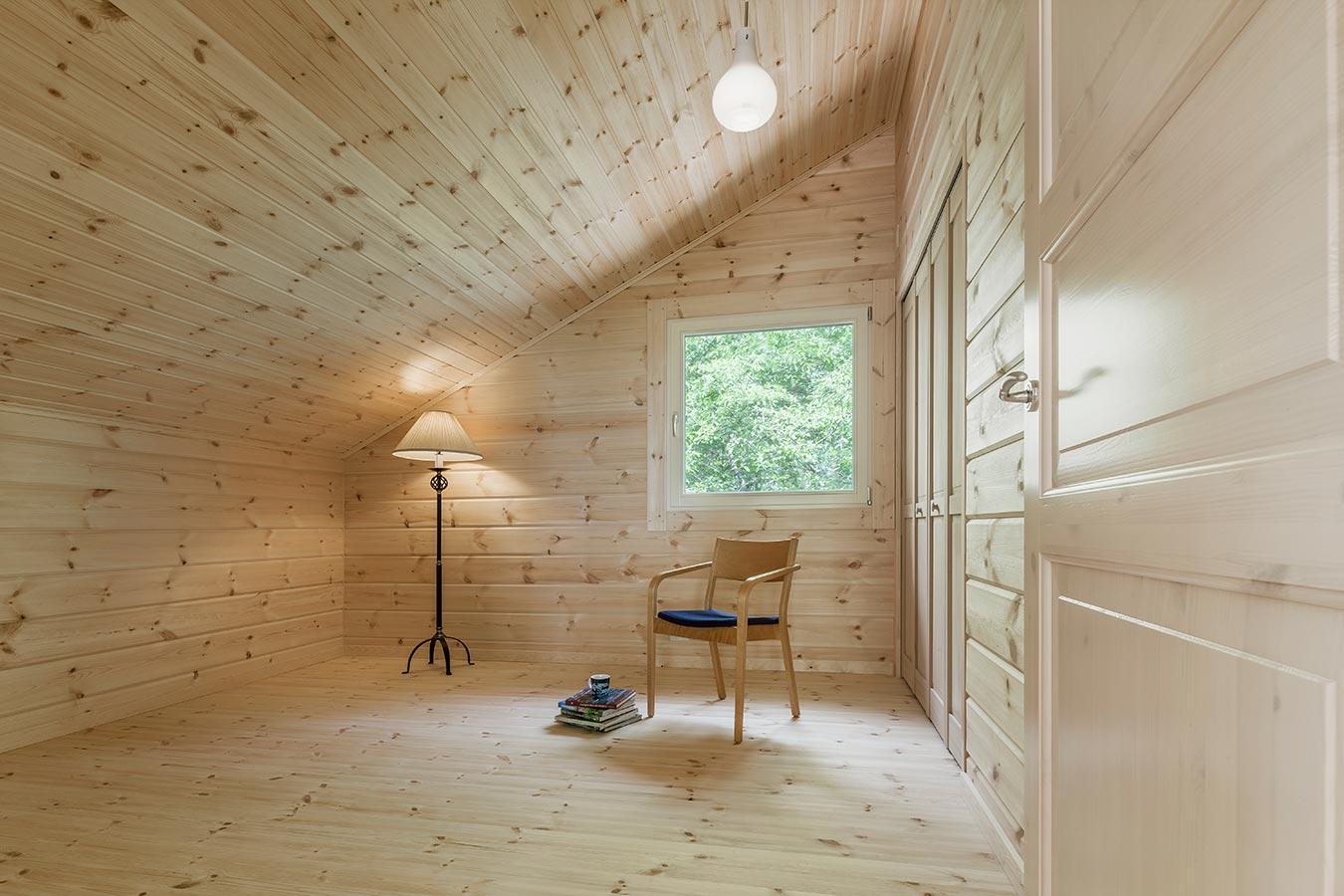 収納スペースも設けた、プライベートルーム