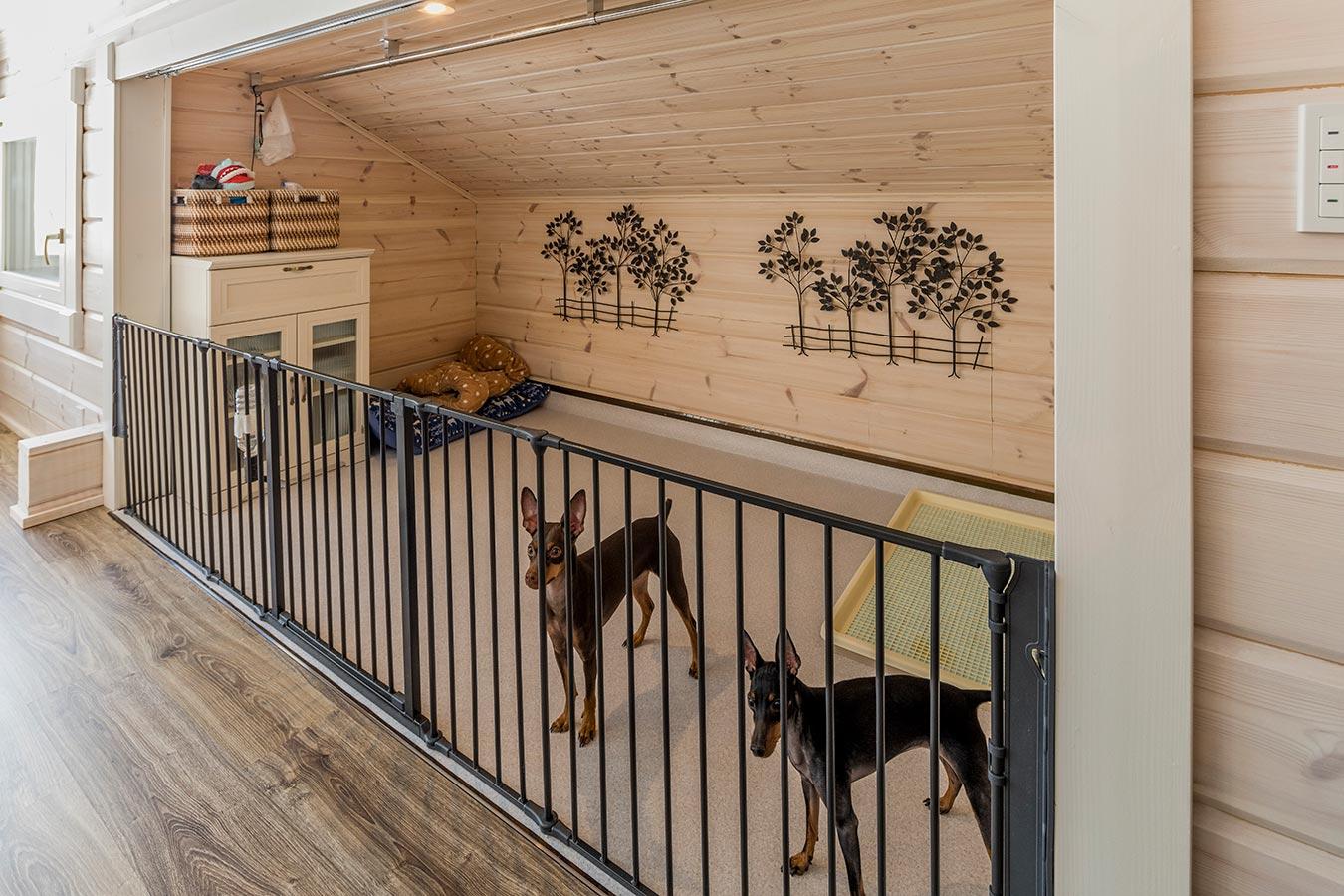 ワンちゃん専用スペースも設置し、愛犬にとってもストレスフリーな住空間