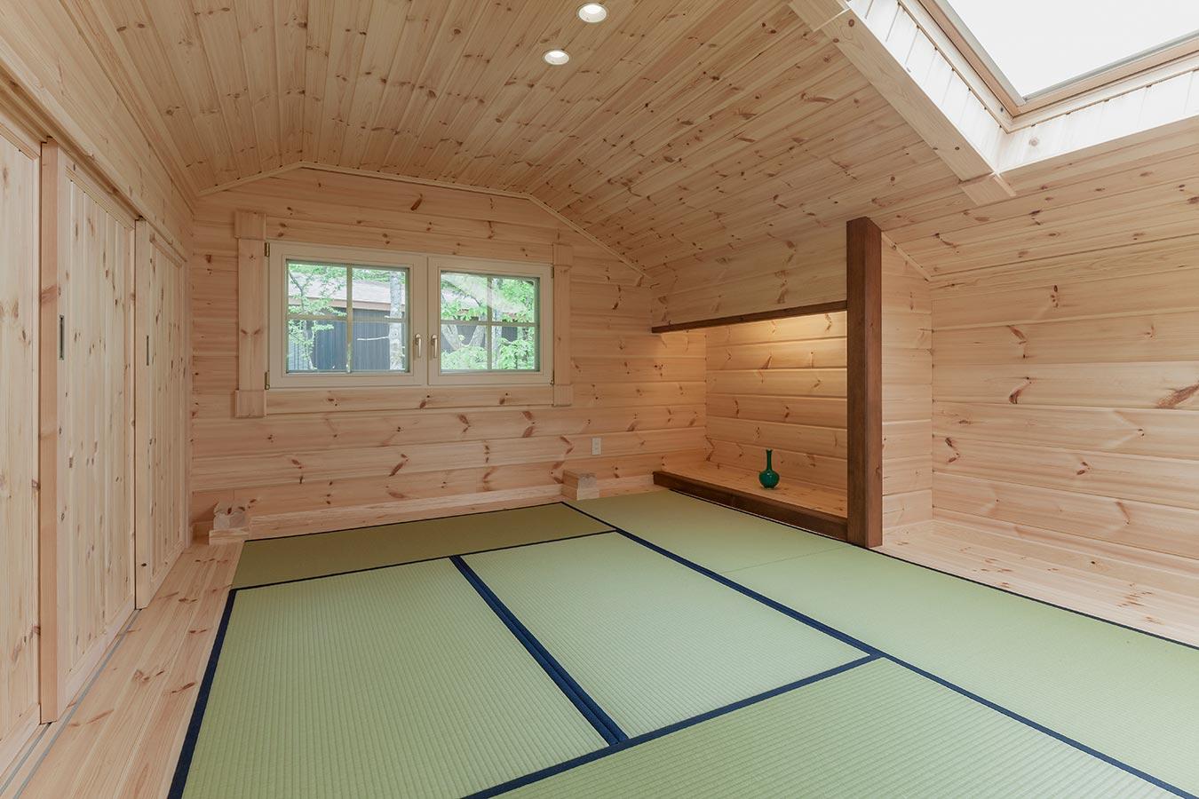 天窓を設置した明るい和室